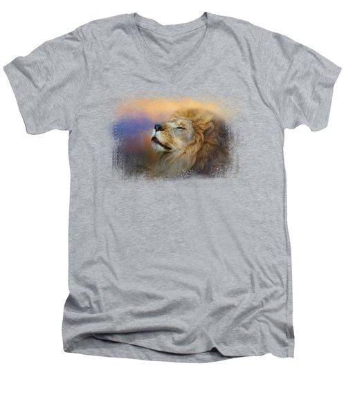 Do Lions Go To Heaven? Men's V-Neck T-Shirt by Jai Johnson