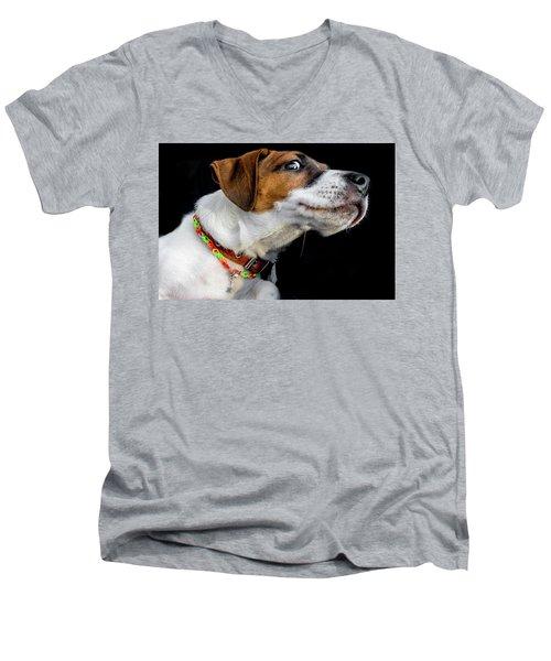 Do Not Confuse Me Men's V-Neck T-Shirt by Alex Galkin