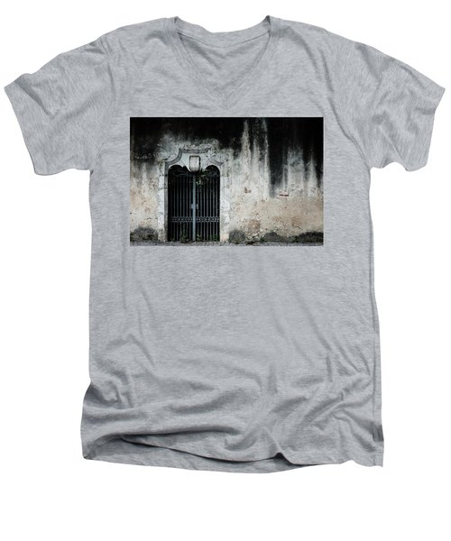 Men's V-Neck T-Shirt featuring the photograph Do Not Enter by Marco Oliveira
