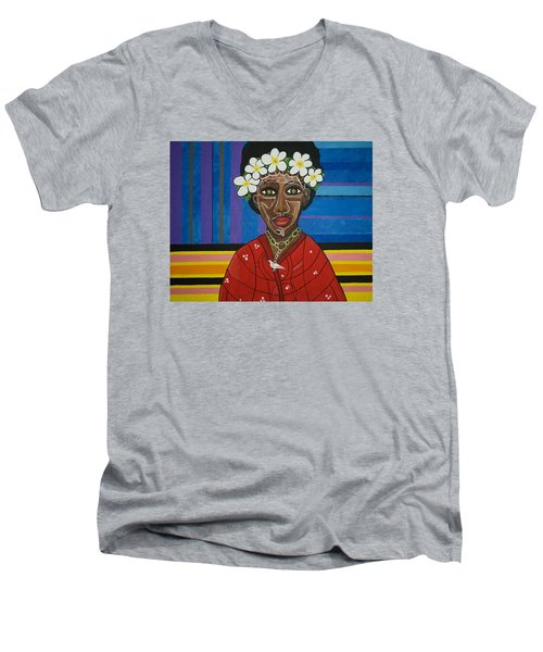 Do The Right Thing Men's V-Neck T-Shirt by Jose Rojas