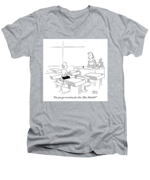 Do You Get Overtime For This Men's V-Neck T-Shirt