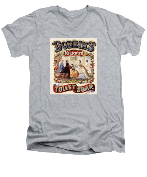 Dobbins Medicated Toilet Soap Men's V-Neck T-Shirt
