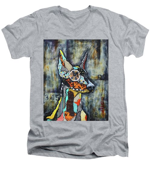 Doberman Pinscher Men's V-Neck T-Shirt