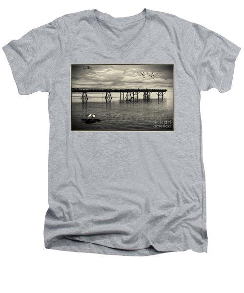 Dock On The Sea Men's V-Neck T-Shirt