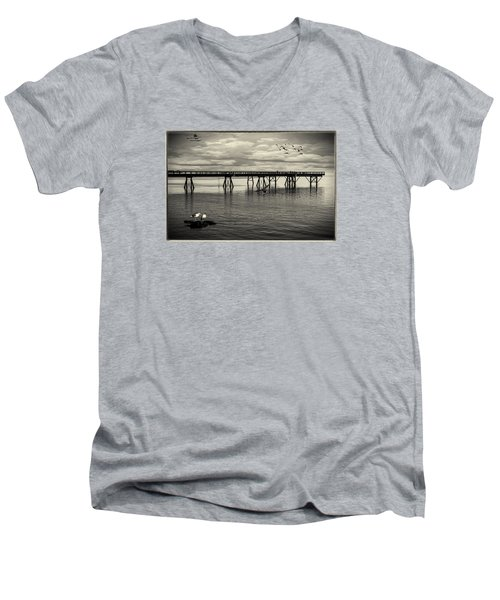 Dock On The Sea Men's V-Neck T-Shirt