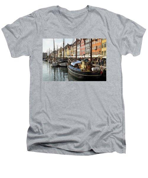 Dockside At Nyhavn Men's V-Neck T-Shirt