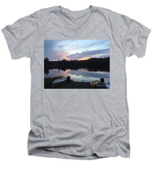 Dockside Pastels Men's V-Neck T-Shirt by Jason Nicholas