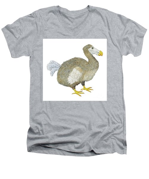 Dodo Bird Protrait Men's V-Neck T-Shirt
