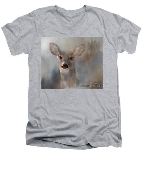 Doe Eyes Men's V-Neck T-Shirt by Kathy Russell
