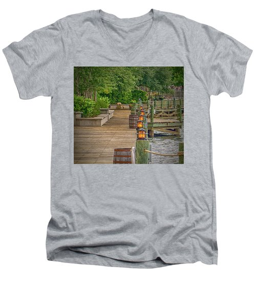Down By The Boardwalk Men's V-Neck T-Shirt