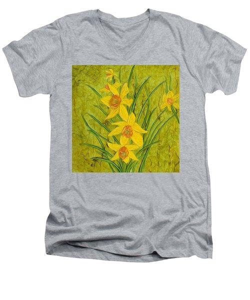 Daffodils Too Men's V-Neck T-Shirt