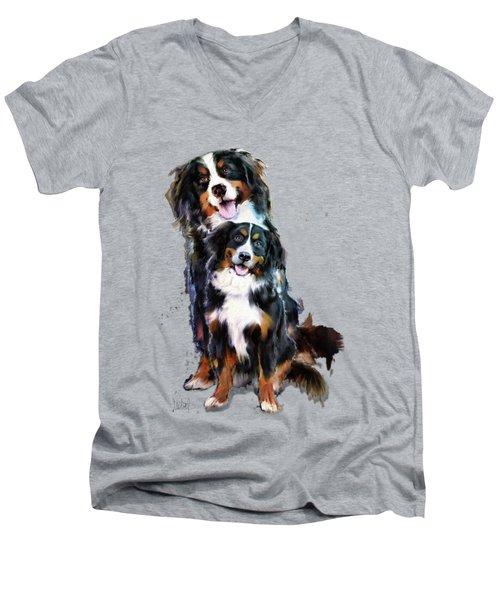 Dog Family Men's V-Neck T-Shirt