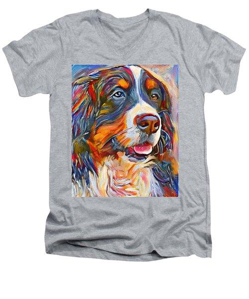 Dog In Colors Men's V-Neck T-Shirt