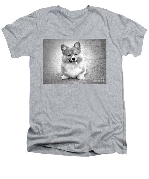 Puppy - Monochrome 6 Men's V-Neck T-Shirt
