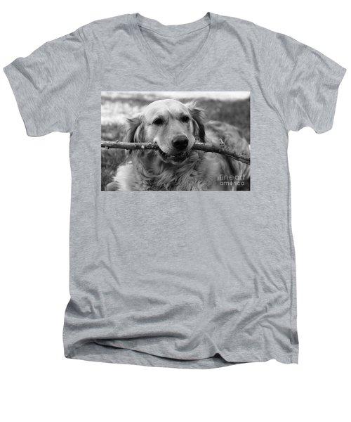Dog - Monochrome 4 Men's V-Neck T-Shirt