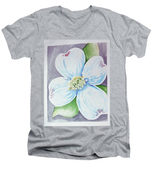 Dogwood Bloom Men's V-Neck T-Shirt
