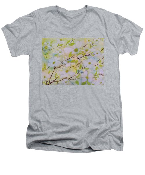 Dogwood Blossoms Men's V-Neck T-Shirt