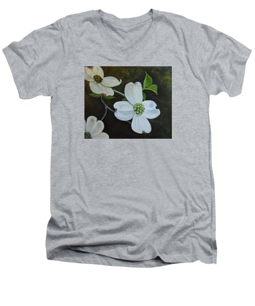 Dogwood Dream Men's V-Neck T-Shirt