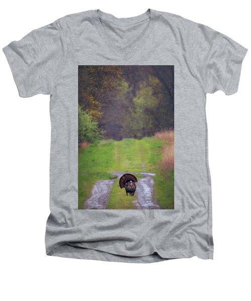 Doing The Turkey Strut Men's V-Neck T-Shirt