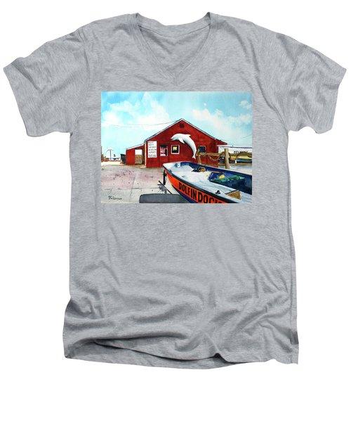 Dolphin Dock II Men's V-Neck T-Shirt
