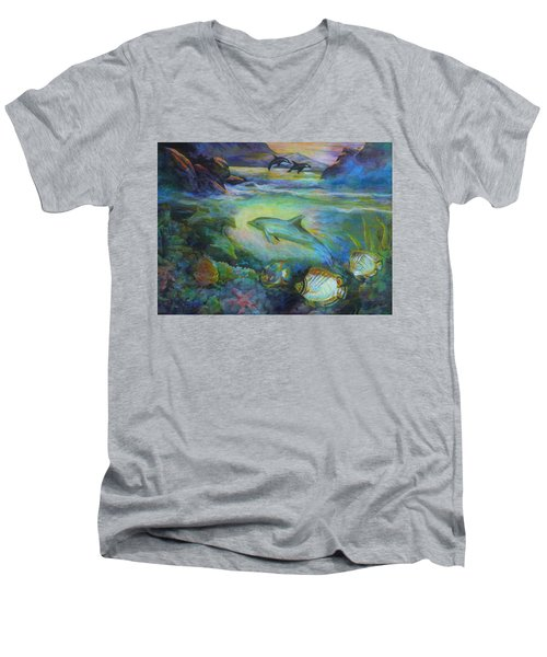 Dolphin Fantasy Men's V-Neck T-Shirt