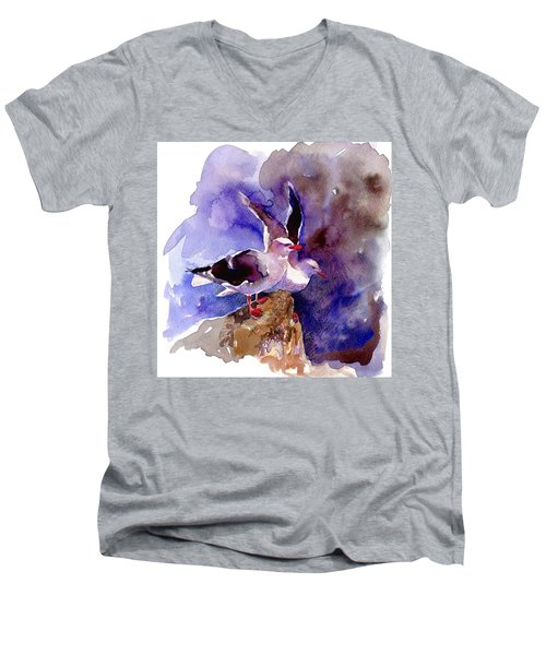 Dolphin Gulls Men's V-Neck T-Shirt