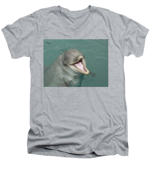 Dolphin Men's V-Neck T-Shirt by Sean M