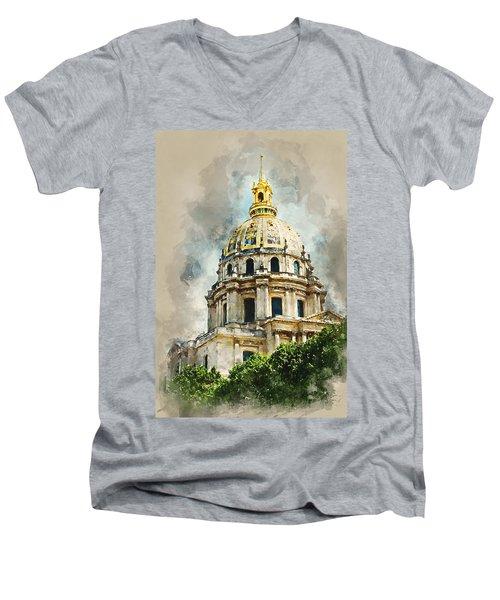 Dome Des Invalides Men's V-Neck T-Shirt
