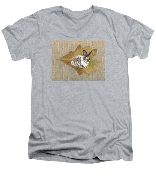 domestic Rabbit Men's V-Neck T-Shirt by Ralph Root