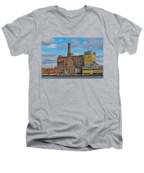 Domino Sugar Water View Men's V-Neck T-Shirt