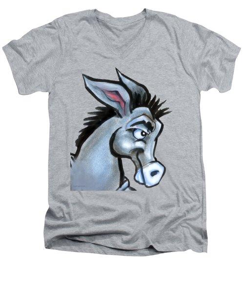 Donkey Men's V-Neck T-Shirt by Kevin Middleton