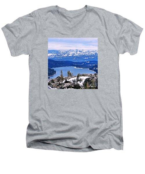 Donner Lake Men's V-Neck T-Shirt