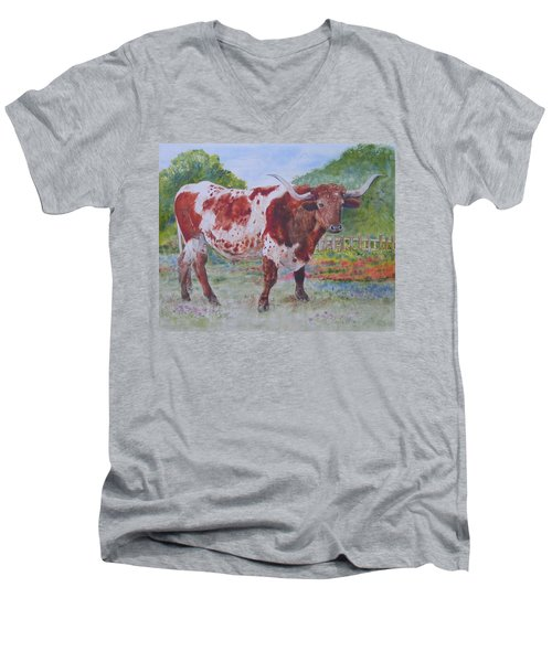 Don't Eat The Bluebonnets Men's V-Neck T-Shirt
