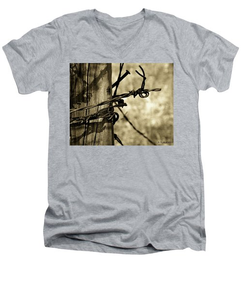 Don't Fence Me In 2 Men's V-Neck T-Shirt by Betty Northcutt