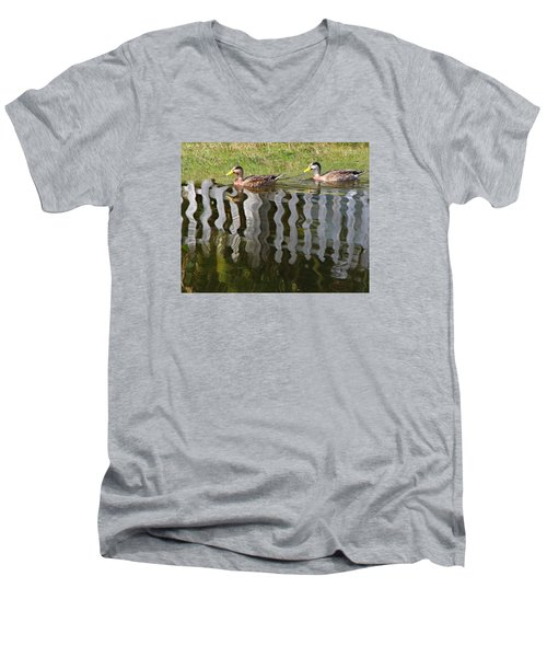 Don't Fence Us In Men's V-Neck T-Shirt by Kathy M Krause