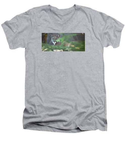 Don't Make A Sound Men's V-Neck T-Shirt by Greg Slocum