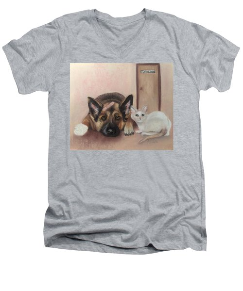 Don't Mess With The Cat  Men's V-Neck T-Shirt