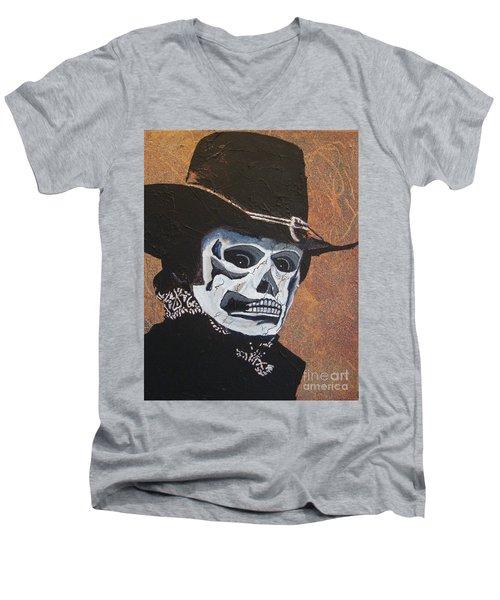 Don't Take Your Cash To Town Men's V-Neck T-Shirt by Stuart Engel