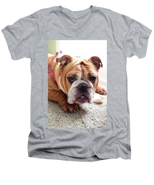 Don't Touch My Bone Men's V-Neck T-Shirt