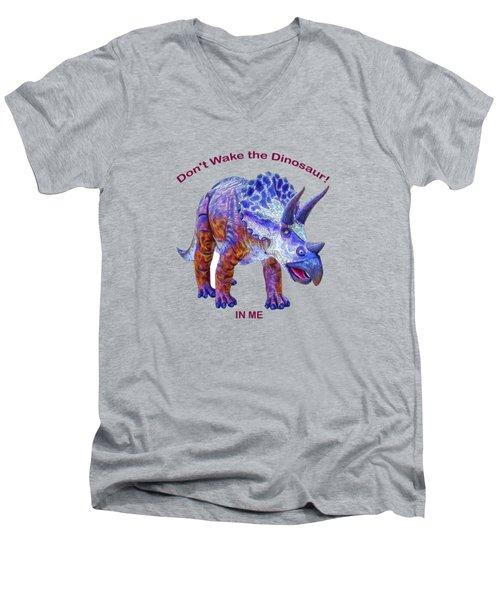 Dont Wake The Dinosaur Men's V-Neck T-Shirt