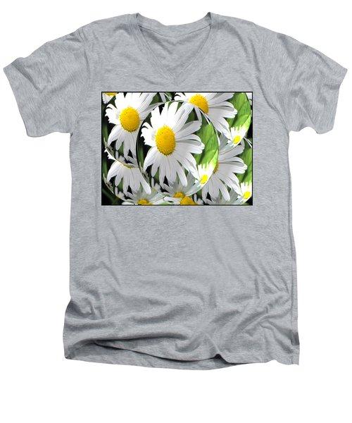 Doo Wop Daisies Men's V-Neck T-Shirt
