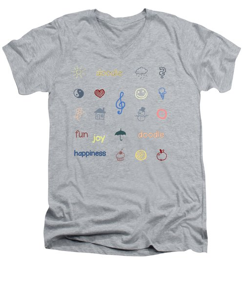 Doodle Men's V-Neck T-Shirt