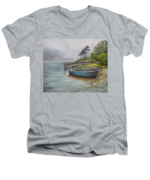 Doolough View Men's V-Neck T-Shirt by Marty Garland