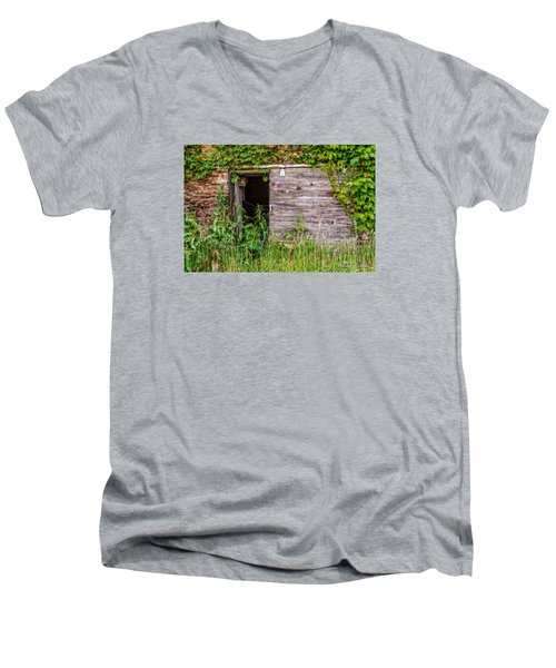 Men's V-Neck T-Shirt featuring the photograph Door Ajar by Christopher Holmes
