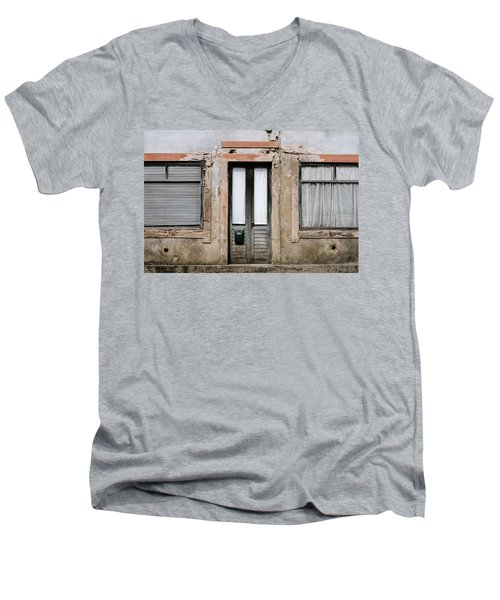 Men's V-Neck T-Shirt featuring the photograph Door No 128 by Marco Oliveira