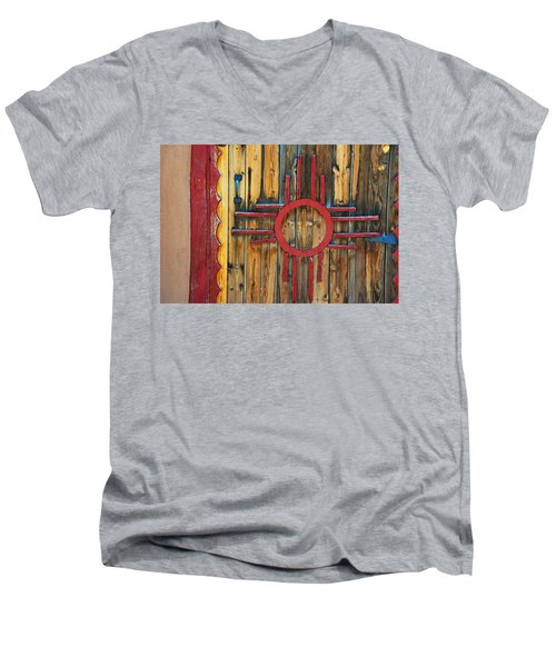Door With Zia Men's V-Neck T-Shirt