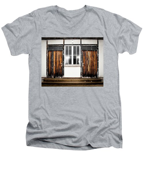 Doors Of Dachau Men's V-Neck T-Shirt