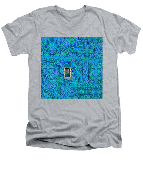 Doorway Into Multi-layers Of Water Art Collage Men's V-Neck T-Shirt