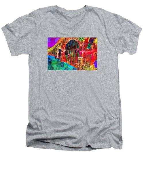 Dos Puertas Pintadas Men's V-Neck T-Shirt