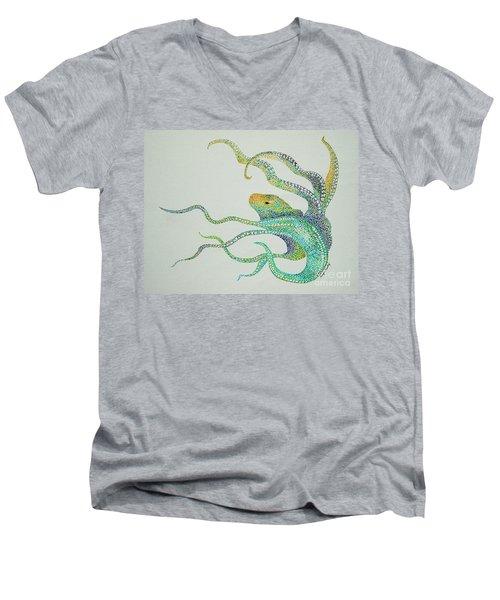 Dot Octopus Men's V-Neck T-Shirt